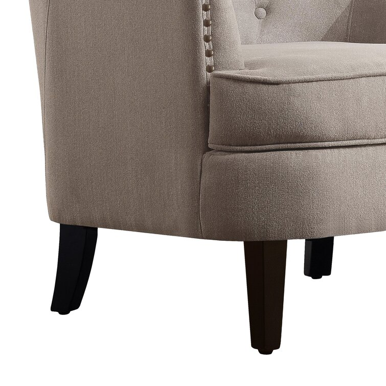 Elroy 32'' Wide Tufted Wingback Chair and Ottoman