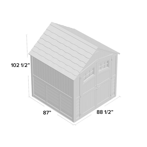 Outdoor Sutton 7 1/2 ft. W x 7 ft. D Resin Storage Shed