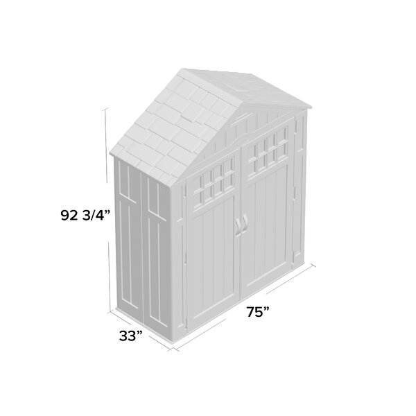 Everett Outdoor 6 ft. W x 3 ft. D Plastic Storage Shed