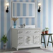 modern storage bathroom vanity set rectangle sink cabinet stone top undermount
