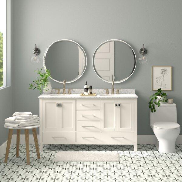"""Newtown 60"""" Double Bathroom Vanity Set"""