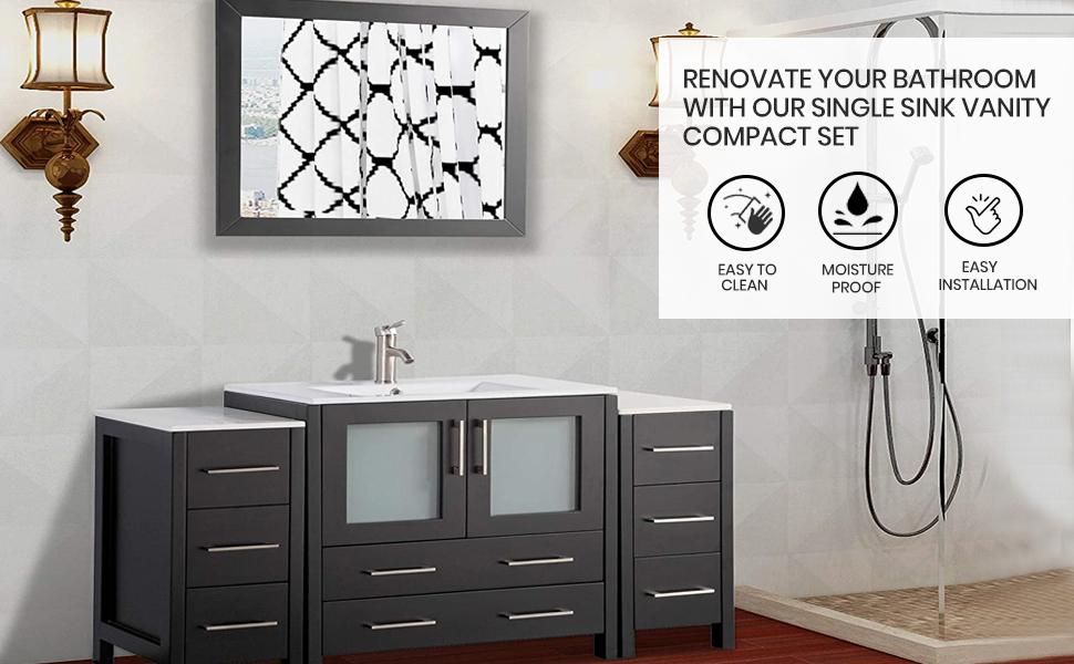 Bathroom Vanity Set Bathroom Cabinet Sink Cabinet with Mirror single sink cabinet Double sink