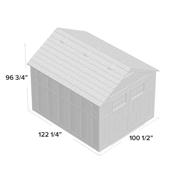 Outdoor Vanilla 8 ft. W x 10 ft. D Plastic Storage Shed