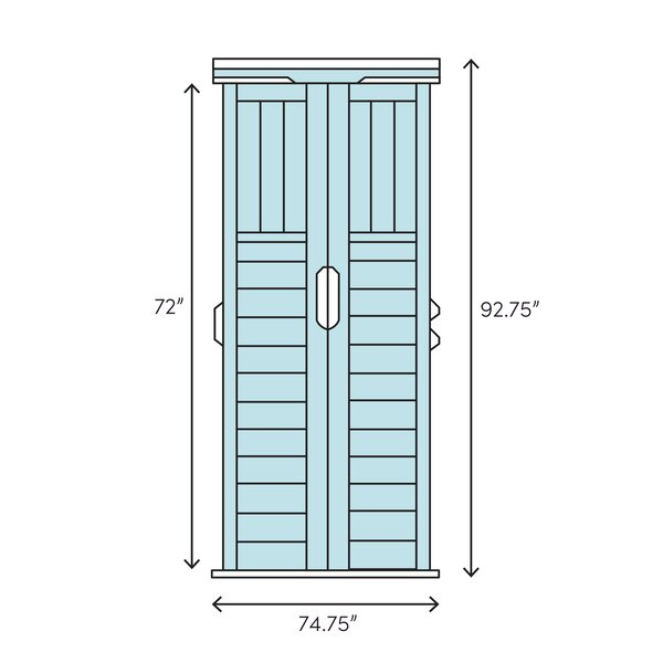 6 ft. 3 in. W x 5 ft. 6 in. D Resin Storage Shed