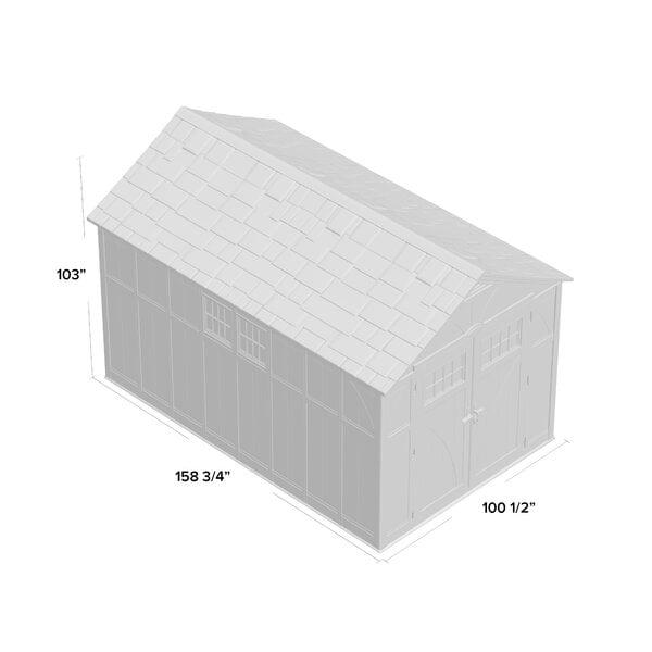 Tremont 8 ft. W x 13 ft. D Plastic Storage Shed