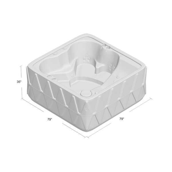 Aquarest Spas, Powered By Jacuzzi® Pumps 5 - Person 29 - Jet Square Plug And Play Hot Tub with Ozonator