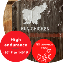 High endurance works in all weather cold or hot